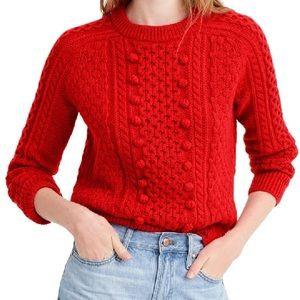 J Crew Popcorn Cable Knit Sweater - Large